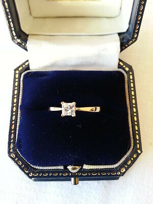 1/2 ct Diamond Engagement Ring, 18ct Gold, with Certificate