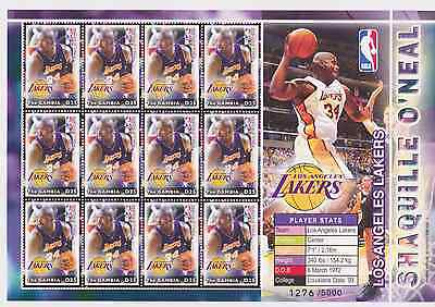 Gambia - Basketball NBA, Shaquille O'Neal, LA Lakers, 2005 - Sc 2917 S/H MNH