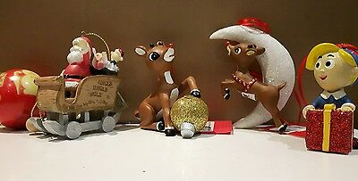 Dept 56 Rudolph The Red Nosed Reindeer Ornaments Hermie/Rudolph - LOT OF 5
