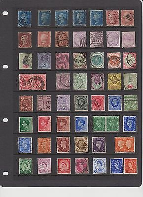 Pre-decimal British Stamps 56 in collection incl. 2D blues