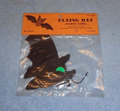 """Pack of 2 10"""" Wide Flying Bats- #9479- Amscan Inc- Thick Paper- NEW NIP Unopened"""