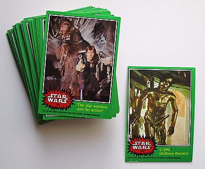 1977 Star Wars Trading Cards - Green Series - Lot  of 46 - (w/ #207) - ungraded