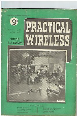 Practical Wireless - August 1950 - Vol. 26  No. 529 - Lovely Condition.