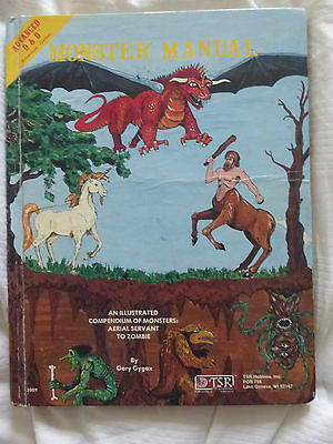 Monster Manual Advance  Dungeons and Dragons Supplement 4  AD & D TSR