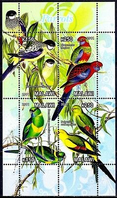 Malawi Parrots Birds Nature Wildlife Conservation m/s MNH
