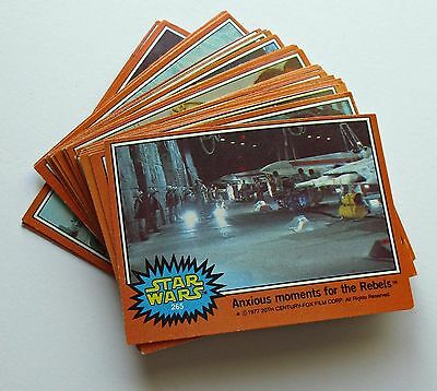1977 Star Wars Trading Cards - Orange Series - Lot  of 31 - ungraded - very good