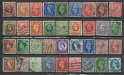 British Queen victoria onwards old stamps with good mix with old kings gb...*