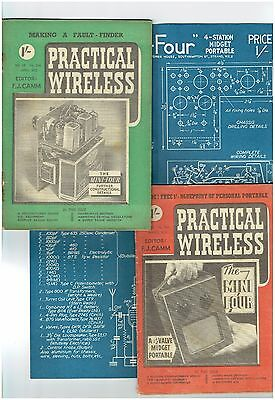 Practical Wireless - March & April 1952 + Blueprint for the 'Mini Four' included