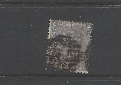 British Queen victoria old stamp 6 penny lilac SG97 plate 5 Emblems w/mark gb