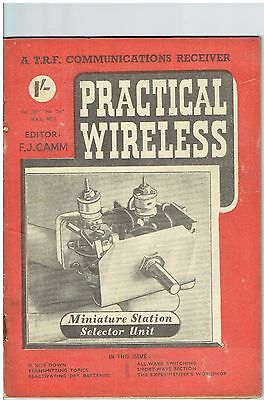 Practical Wireless - May 1952 - Vol. 28, No. 547 - Lovely Condition.