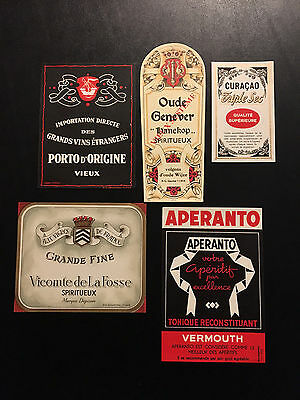 Vintage Lot (1) of 15 European (French) Wine Labels – NOS