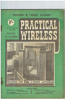 Practical Wireless - June 1952 - Vol. 28, No. 548 - Lovely Condition.