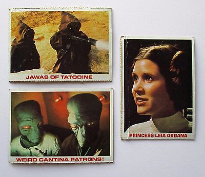Star Wars 1981 Burger King/Coca-Cola Trading Cards - Lot of 3 - Leia Organa