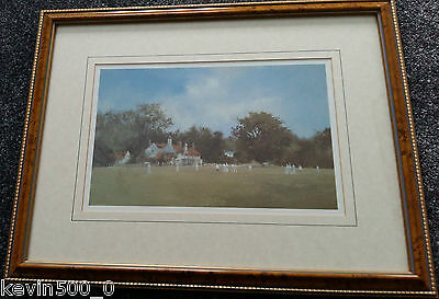 New Batsman - Framed Cricket Print By Roy Perry