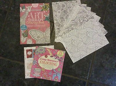 Adult Colouring Books & Sheets - Colour Therapy - Crafting