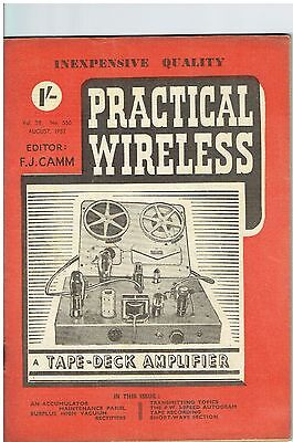 Practical Wireless - August 1952 - Vol. 28, No. 550 - Lovely Condition.