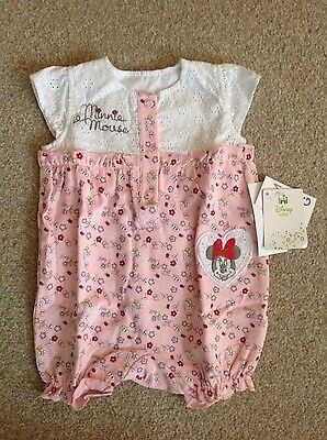 0-3 month girls minnie mouse romper