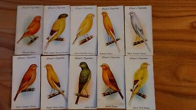 full set of players aviary and cage birds cigarette cards