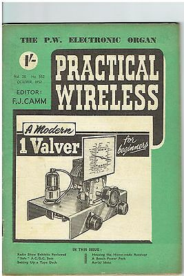 Practical Wireless - October 1952 - Vol. 28, No. 552 - Lovely Condition.