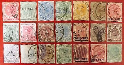 Malaya, Straits Settements Queen Victorian used stamps