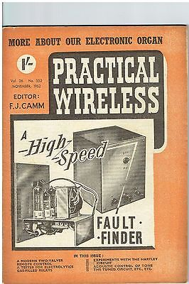 Practical Wireless - November 1952 - Vol. 28, No. 553 - Lovely Condition.