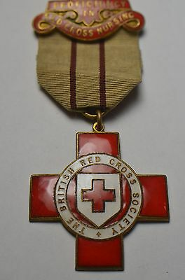 British Red Cross Society Medal For Proficiency In Red Cross Nursing - Named