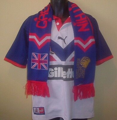 Official GREAT BRITAIN Rugby League Shirt 2006 (L) & Vintage Scarf