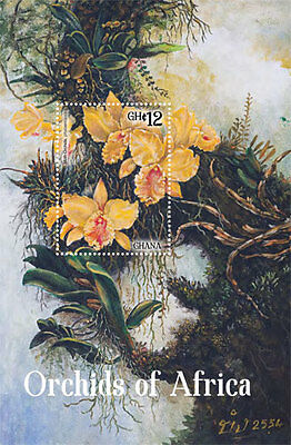 Ghana - Orchids of Africa, Moth Orchids, 2014 - S/S MNH