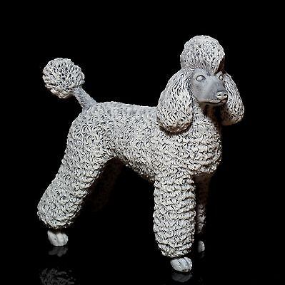 Royal Poodle Marble Figurine Russian Stone Art Animal Sculpture Dog Statue 5.9""