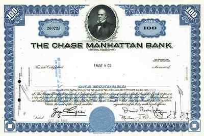 Chase Manhattan Bank Oktober1965 Delaware New York David Rockefeller 100 shares