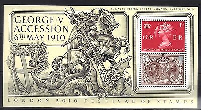 Great Britain.festival Of Stamps Over Print Mini Sheet 2010 Mnh