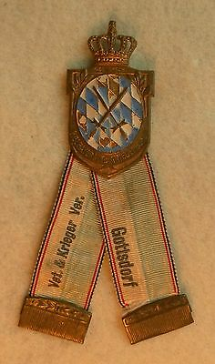 Bavarian Veterans Badge and Ribbon Kreigerbund