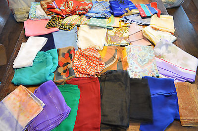 Lot Of 36 Vintage To Modern Head Wraps,scarf,cover Ups,colorful,preowned,clean