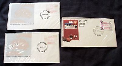 3 x AUSTRALIA DIFFERENT ILLUSTRATED FIRST DAY COVERS, VENDING MACHINES 1984 & 87