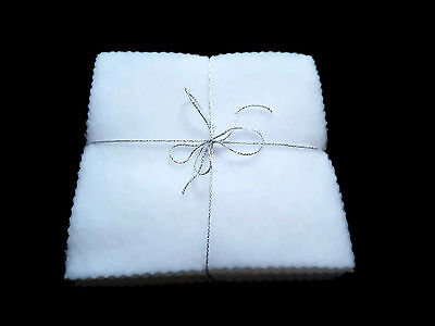 NEW White Reusable Washable Baby Fleece Wipes x10