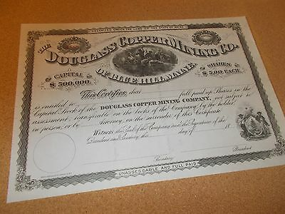 Douglass Copper Mining Company Unissued  Of Blue Hill, Maine 18---
