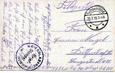 Ww1 Original German Feldpost Card