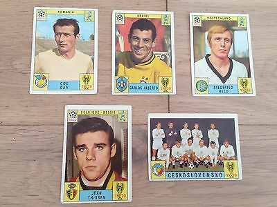 Panini Mexico 70 Lot 5  Stickers Unusued Back Green & Black Very Rare