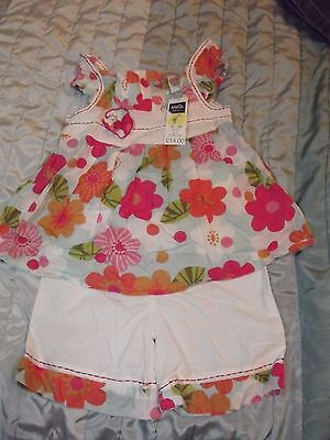 BNWT Baby girls M&Co Two piece Summer outfit - age 12-18 months