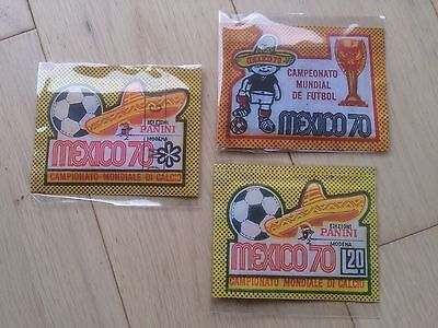 Panini Mexico 70 Bustina Packets 3 Versions World Cup