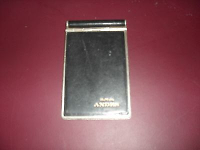 Vintage R. M .s. Andes Ocean Liner Ship- Metal Notebook Case-Society Made In Eng