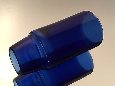 Willy's Primo DeLuxe Seamless Cobalt Bottleneck Guitar Slide Custom Glass Finish