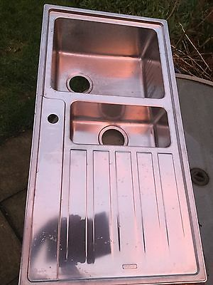 Stainless Steel Sink. 1 1/2 Bowl  Left Hand Drainer. Brand New