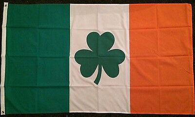 Irish Shamrock Flag 5x3 Eire Erin Republican Bar Pub Sports GAA Ireland Dublin