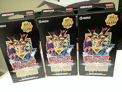 Yugioh Movie Packgold Edition X3 Boxes
