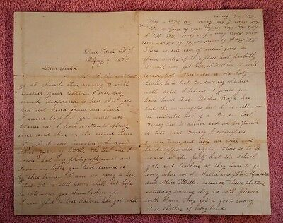 Antique Letter 1878 - Between Sisters - Due West Female College to Newberry, SC