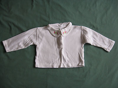 Early Days long sleeved white cotton top age 12 - 18 months used