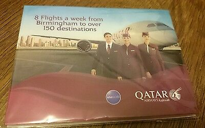 Qatar Airways  airline notepad post it notes sticky brand new