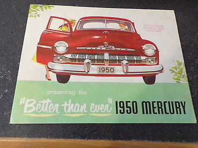 1950 Mercury Better Than Ever Dealer Brochure Fold Out Color Graphics