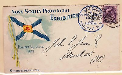 Worldwide Exhibitions - Illustrated Cover - Nova Scotia 1899